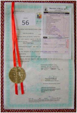 Authenticated Diploma and TOR