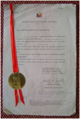 Authenticated Marriage Certificate