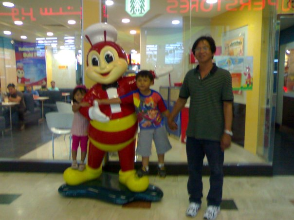 My kids treated their grandpa to Jollibee
