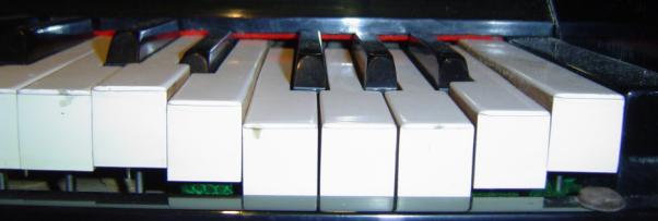 Damaged piano keys...