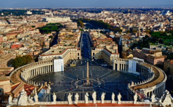 Stunning View of the City of Rome from Vatican