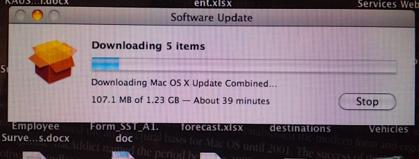 Updating to the latest version of Snow Leopard