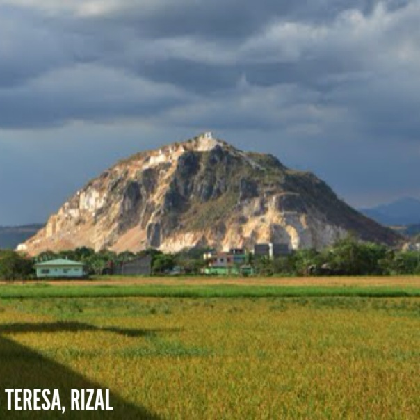 This is the mountain I used see everyday, along with the rice fields  (which is also my childhood playground) that I witness change its color from lush green to cheerful yellow to bountiful gold, at the back of our house since birth until I was about 23 years old in Teresa Rizal.