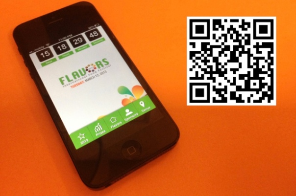 The mobile webapp I made for the event, that I mirrored on my site.  Can be sampled by scanning the QR code.