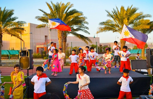 """Bulaklakan"" performed by Filipino kids, a crowd favorite."
