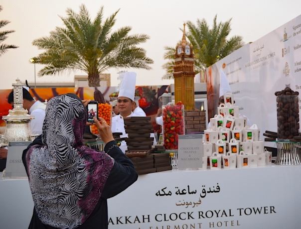 Replica of Makkah Clock Royal Tower never failed to impress event guests.